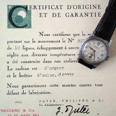 Relógios - Patek: PATEK PHILIPPE CALATRAVA, FRECCERO + CERTIFICAT D'ORIGINE. MONTEVIDEO, 1938. Lote 255629990