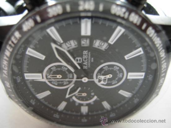 Relojes - Racer: RELOJ RACER CRONO. A estrenar, con precintos, en su caja y garantía. - Foto 4 - 36319145