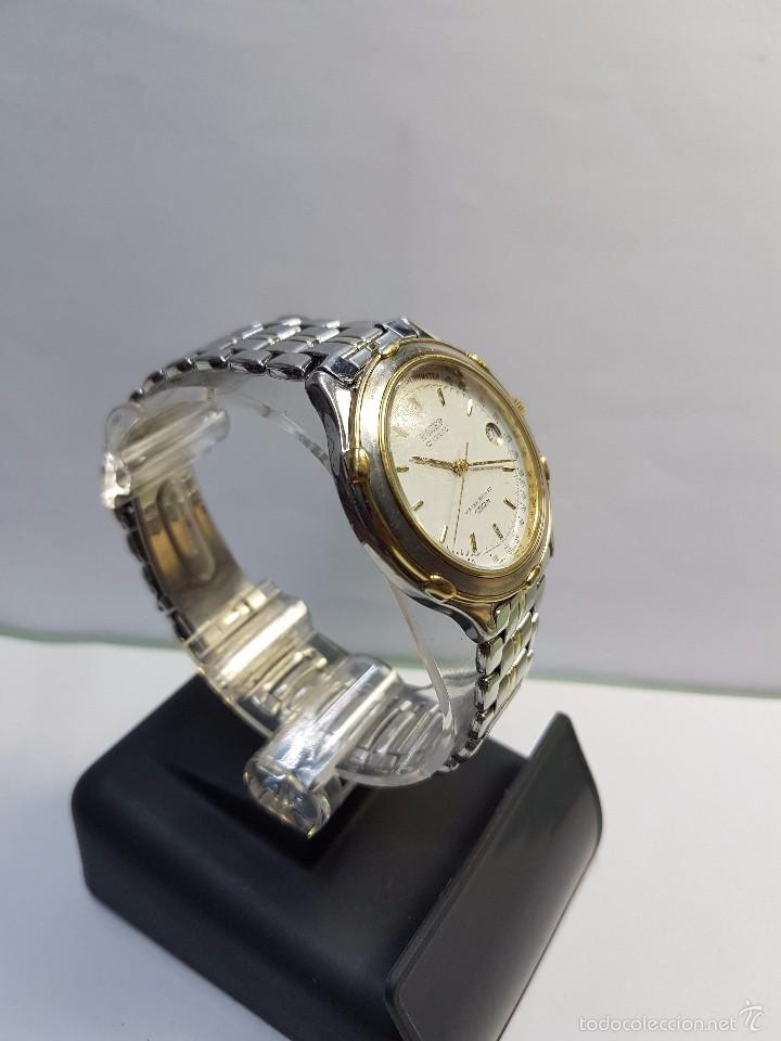 Relojes - Racer: Reloj de caballero Racer (Vintage) acero bicolor con correa bicolor, corona de rosca 100 metro agua - Foto 2 - 57814873