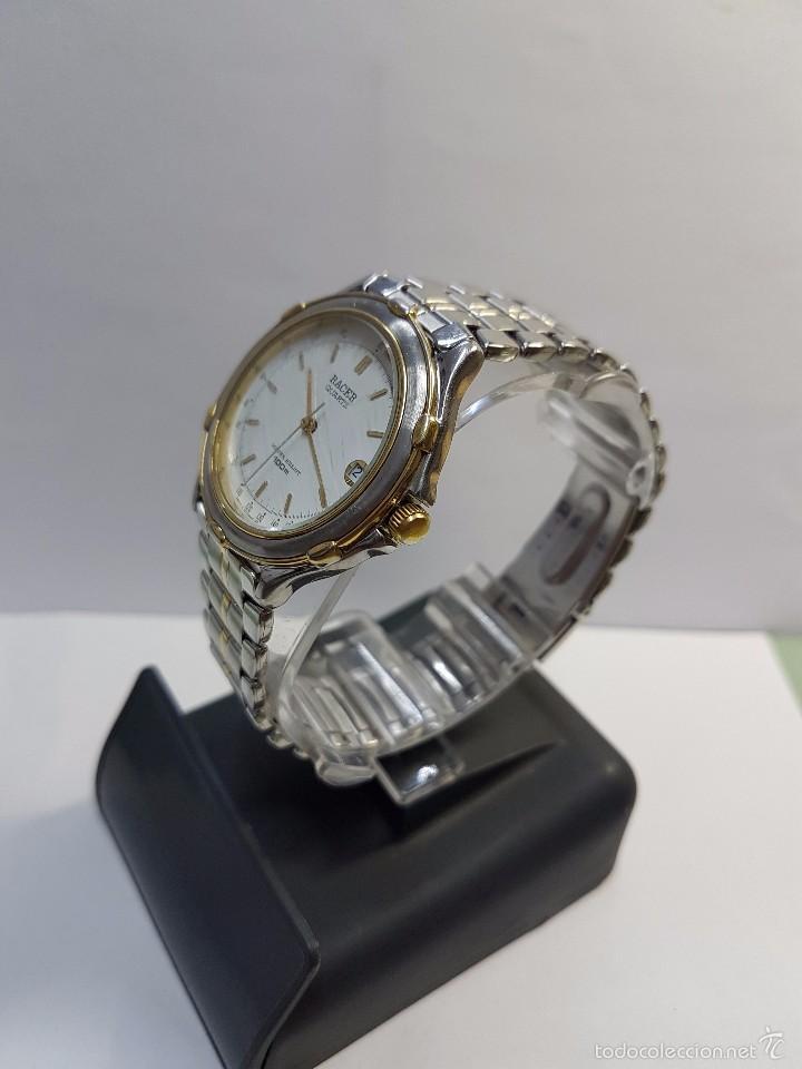 Relojes - Racer: Reloj de caballero Racer (Vintage) acero bicolor con correa bicolor, corona de rosca 100 metro agua - Foto 3 - 57814873