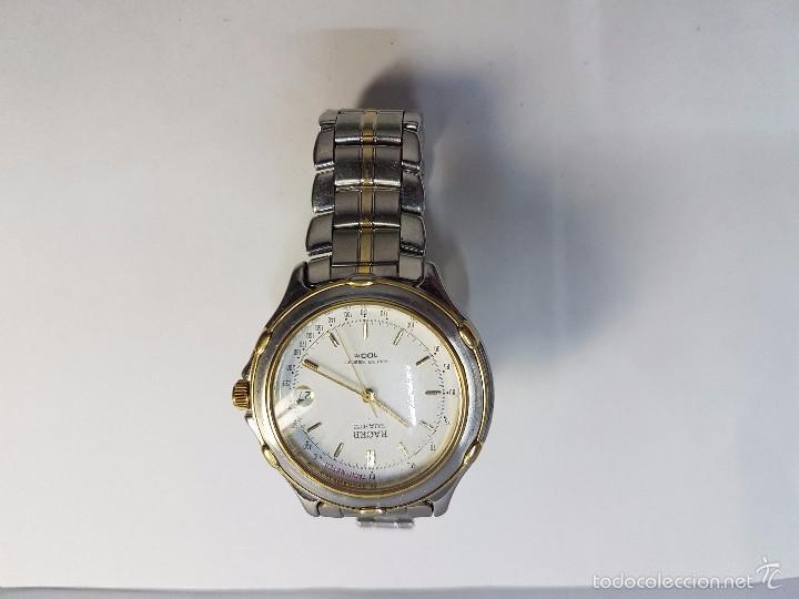 Relojes - Racer: Reloj de caballero Racer (Vintage) acero bicolor con correa bicolor, corona de rosca 100 metro agua - Foto 5 - 57814873