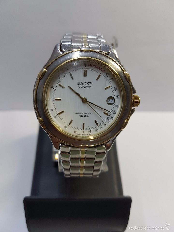 Relojes - Racer: Reloj de caballero Racer (Vintage) acero bicolor con correa bicolor, corona de rosca 100 metro agua - Foto 7 - 57814873