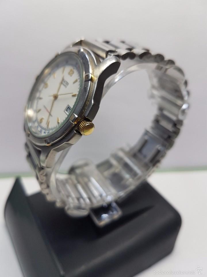 Relojes - Racer: Reloj de caballero (vintage) cuarzo Racer con correa de acero, corona de rosca water 100 metros - Foto 3 - 57817375