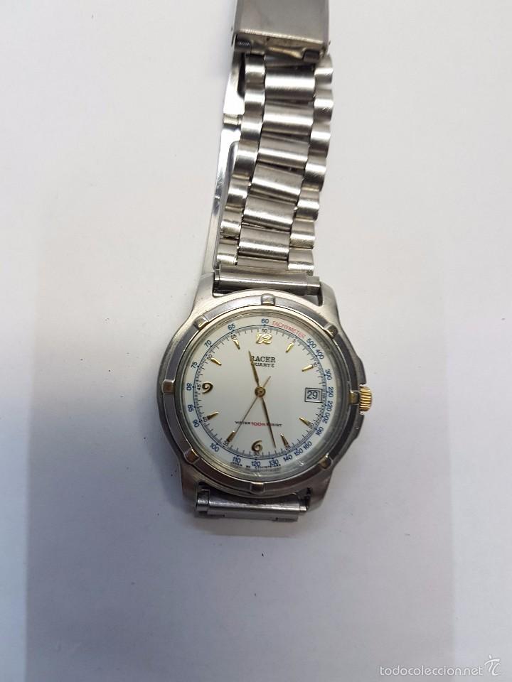 Relojes - Racer: Reloj de caballero (vintage) cuarzo Racer con correa de acero, corona de rosca water 100 metros - Foto 4 - 57817375