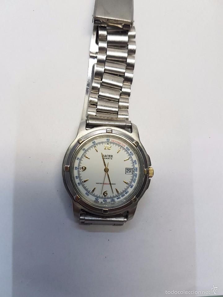 Relojes - Racer: Reloj de caballero (vintage) cuarzo Racer con correa de acero, corona de rosca water 100 metros - Foto 6 - 57817375