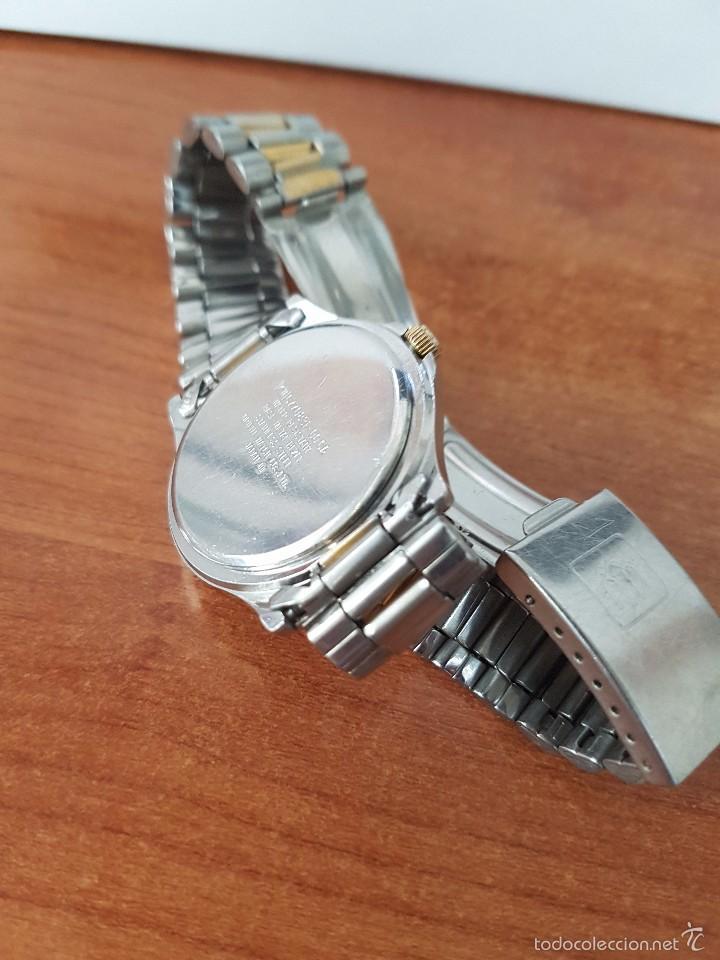 Relojes - Racer: Reloj de caballero Racer de cuarzo en acero, correa original acero, calendario bicolor corona rosca - Foto 4 - 58215619
