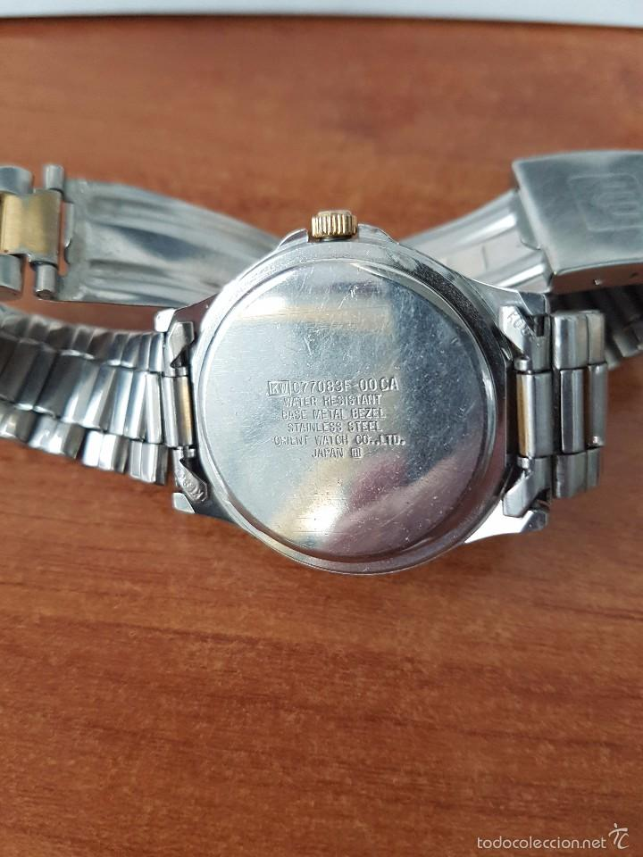 Relojes - Racer: Reloj de caballero Racer de cuarzo en acero, correa original acero, calendario bicolor corona rosca - Foto 5 - 58215619