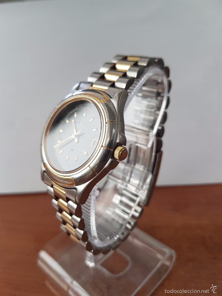 Relojes - Racer: Reloj de caballero Racer de cuarzo en acero, correa original acero, calendario bicolor corona rosca - Foto 7 - 58215619