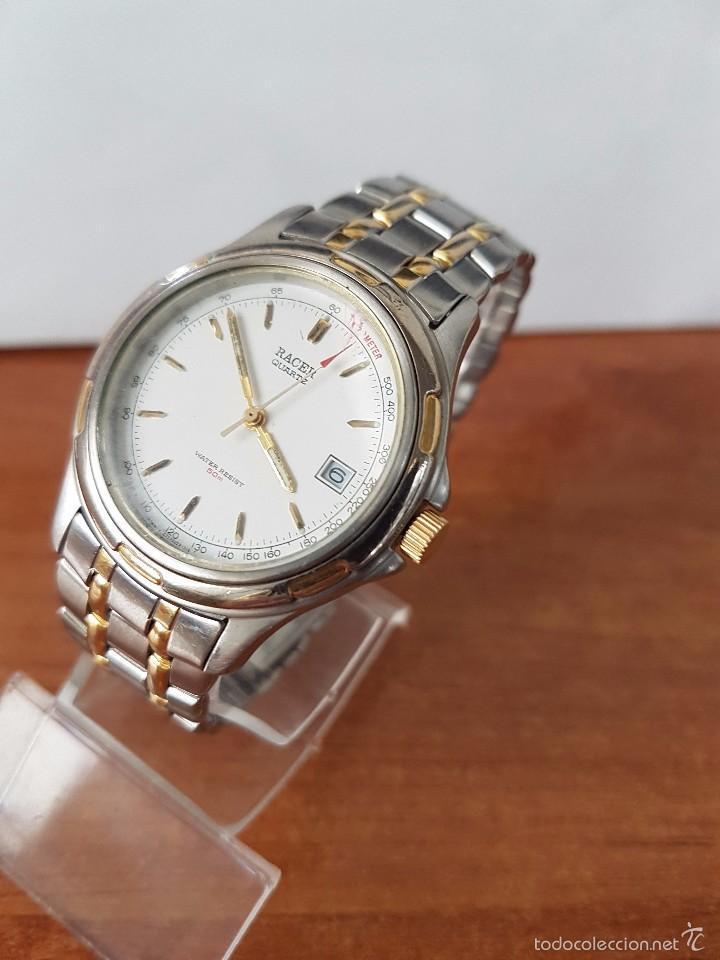 Relojes - Racer: Reloj de caballero cuarzo (Vintage) marca Racer con calendario a las 3 correa de acero bicolor - Foto 2 - 58218517