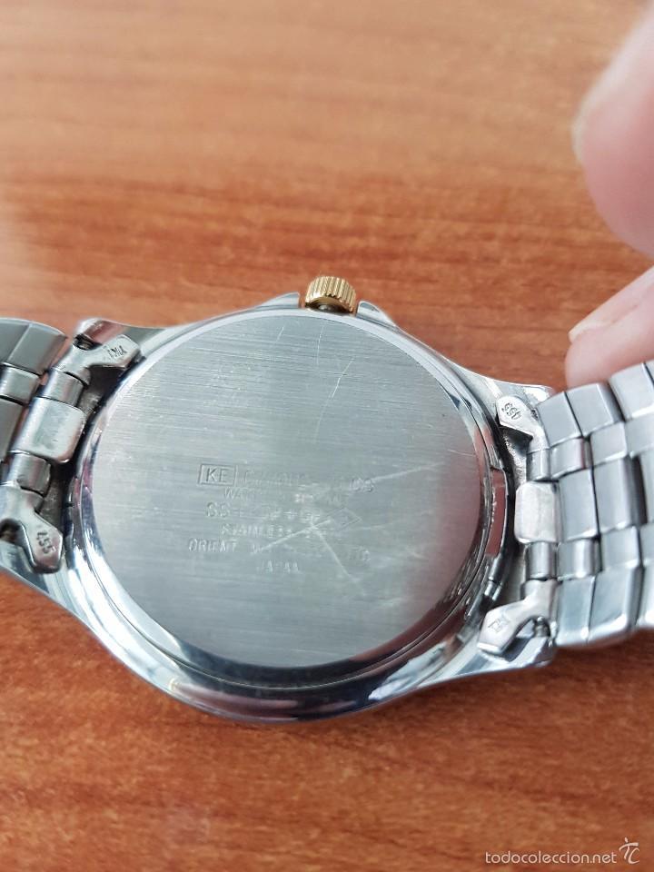 Relojes - Racer: Reloj de caballero cuarzo (Vintage) marca Racer con calendario a las 3 correa de acero bicolor - Foto 3 - 58218517