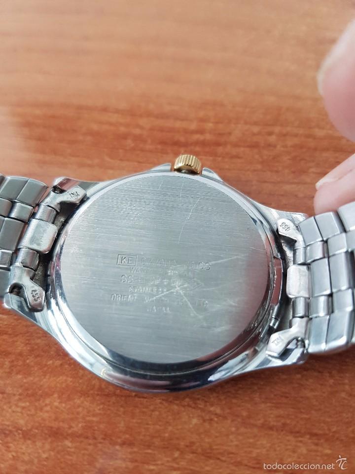 Relojes - Racer: Reloj de caballero cuarzo (Vintage) marca Racer con calendario a las 3 correa de acero bicolor - Foto 4 - 58218517