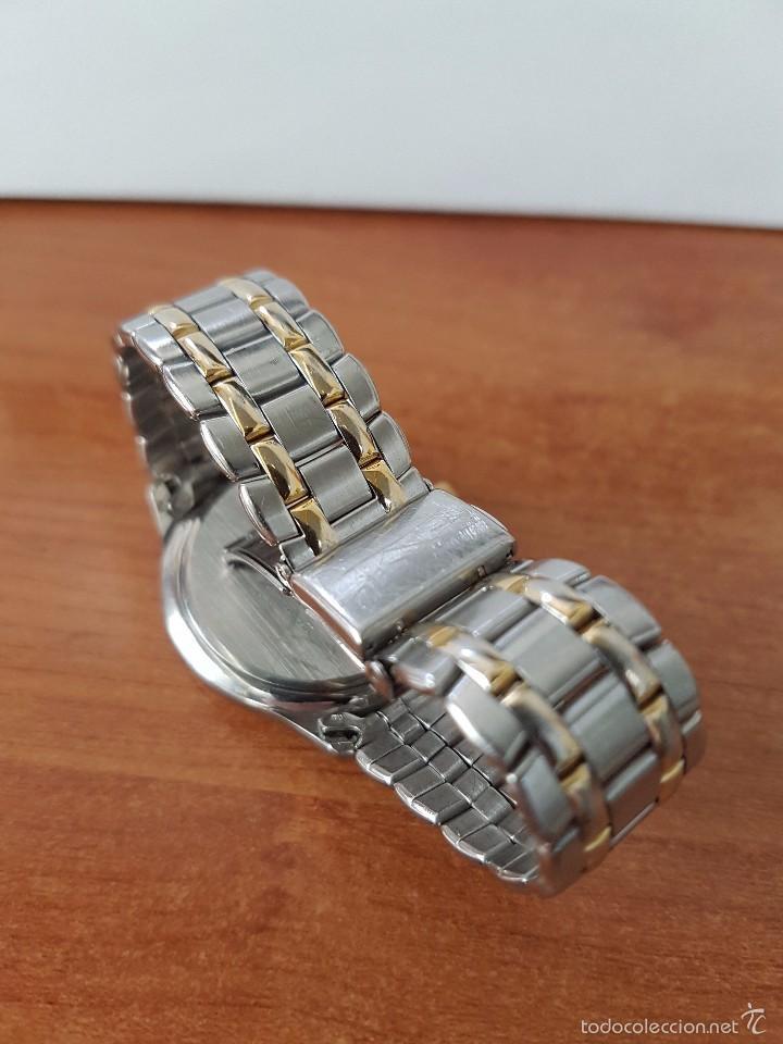 Relojes - Racer: Reloj de caballero cuarzo (Vintage) marca Racer con calendario a las 3 correa de acero bicolor - Foto 5 - 58218517