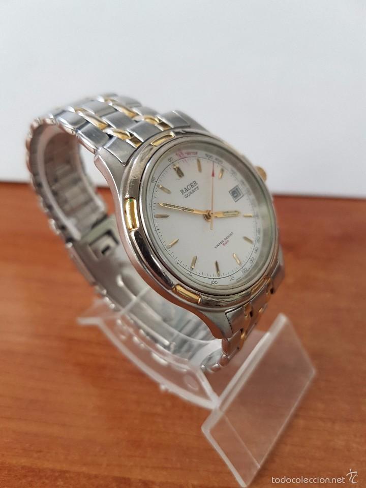 Relojes - Racer: Reloj de caballero cuarzo (Vintage) marca Racer con calendario a las 3 correa de acero bicolor - Foto 6 - 58218517