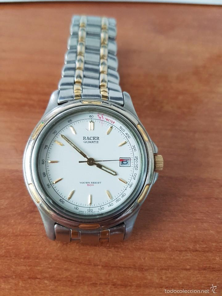 Relojes - Racer: Reloj de caballero cuarzo (Vintage) marca Racer con calendario a las 3 correa de acero bicolor - Foto 7 - 58218517