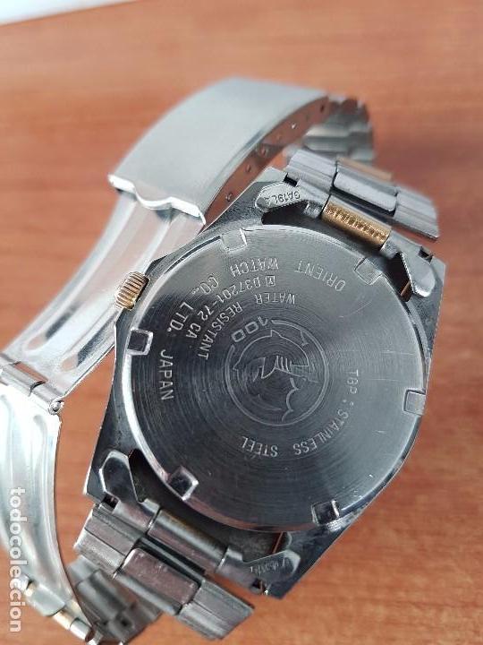 Relojes - Racer: Reloj de caballero (Vintage) Racer cuarzo bicolor 100 D 37201-72 CA correa de acero bicolor corona r - Foto 4 - 68904969