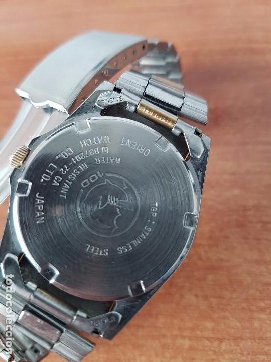 Relojes - Racer: Reloj de caballero (Vintage) Racer cuarzo bicolor 100 D 37201-72 CA correa de acero bicolor corona r - Foto 6 - 68904969