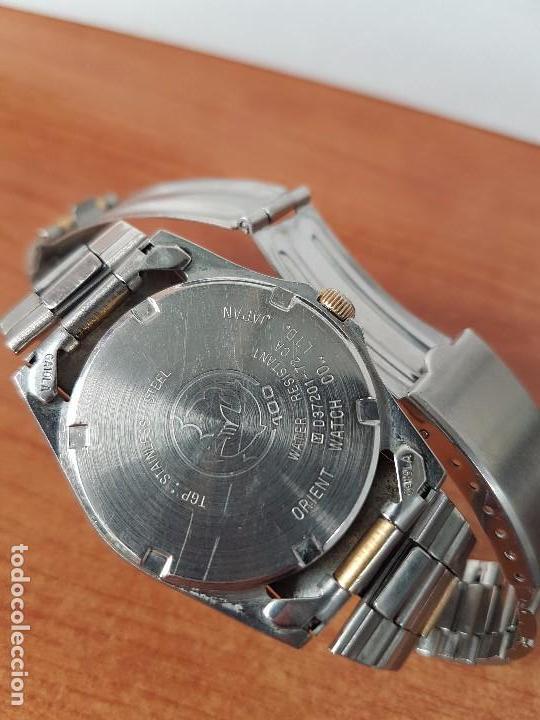 Relojes - Racer: Reloj de caballero (Vintage) Racer cuarzo bicolor 100 D 37201-72 CA correa de acero bicolor corona r - Foto 7 - 68904969