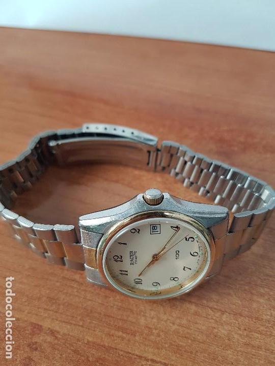 Relojes - Racer: Reloj de caballero (Vintage) Racer cuarzo bicolor 100 D 37201-72 CA correa de acero bicolor corona r - Foto 11 - 68904969