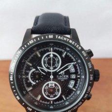 Relojes - Racer: RELOJ DE CABALLERO RACER CUARZO CRONOGRAFO 50 METROS WATER CON CALENDARIO A LAS TRES HORAS CORREA . Lote 83565224