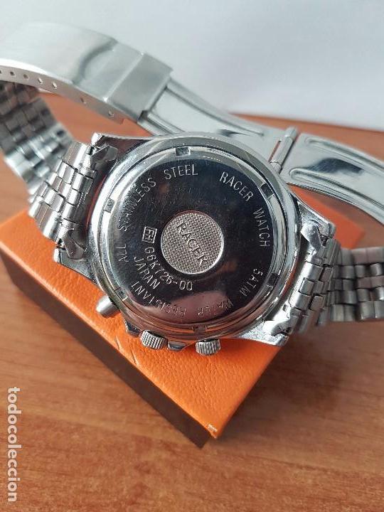 Relojes - Racer: Reloj de caballero RACER cuarzo multifunción de acero, correa de acero original funcionando - Foto 4 - 83636984