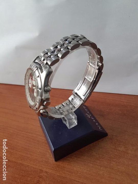 Relojes - Racer: Reloj de caballero RACER cuarzo multifunción de acero, correa de acero original funcionando - Foto 8 - 83636984