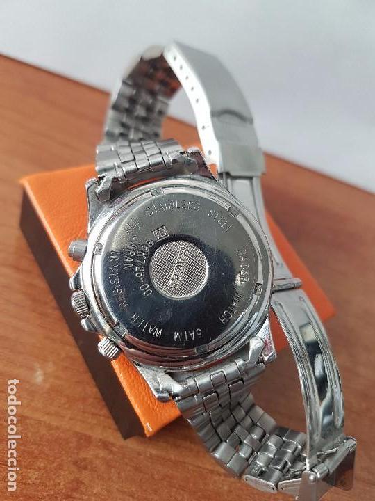 Relojes - Racer: Reloj de caballero RACER cuarzo multifunción de acero, correa de acero original funcionando - Foto 11 - 83636984