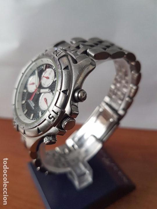 Relojes - Racer: Reloj de caballero RACER cuarzo multifunción de acero, correa de acero original funcionando - Foto 17 - 83636984