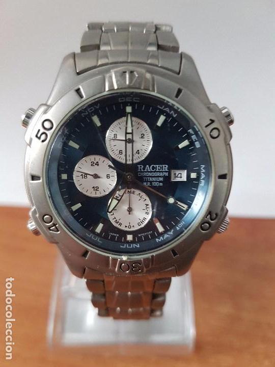 33bcac2b53ab Relojes - Racer  Reloj de caballero RACER de titanio con correa original  titanio cronografo