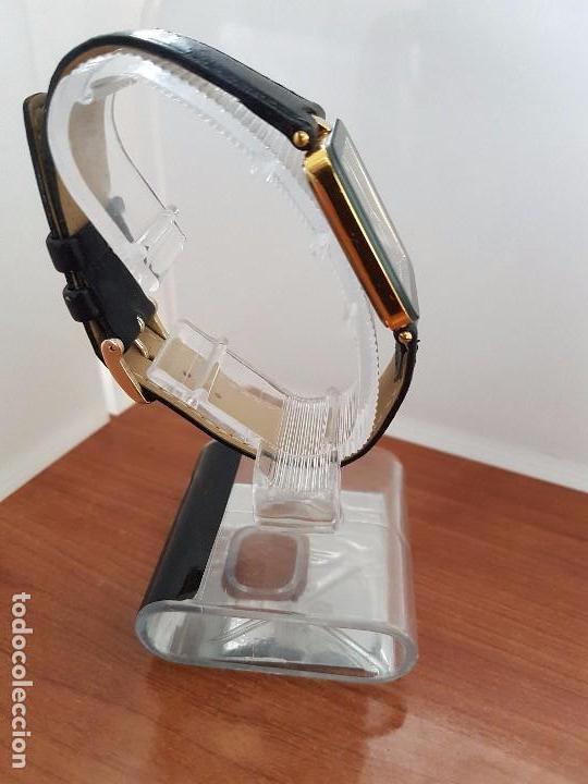Relojes - Racer: Reloj se caballero cuarzo RACER chapado de oro, con correa de cuero negra sin uso, reloj de stock - Foto 6 - 99237355