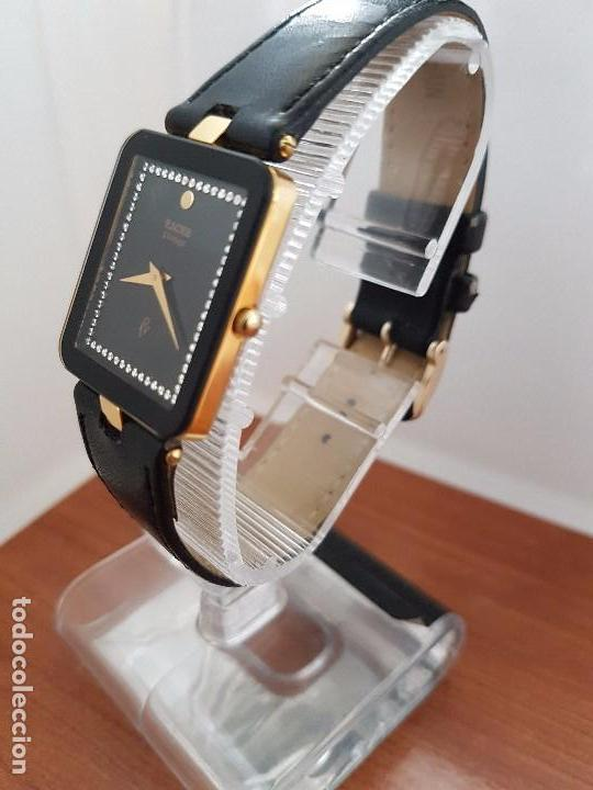 Relojes - Racer: Reloj se caballero cuarzo RACER chapado de oro, con correa de cuero negra sin uso, reloj de stock - Foto 14 - 99237355