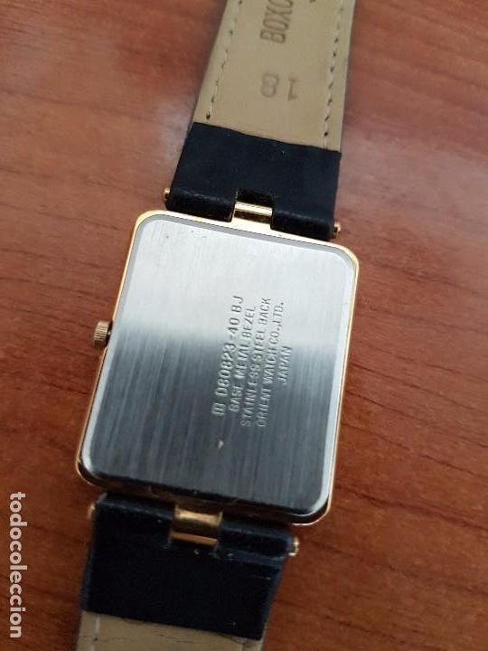 Relojes - Racer: Reloj se caballero cuarzo RACER chapado de oro, con correa de cuero negra sin uso, reloj de stock - Foto 17 - 99237355