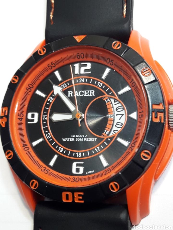 RELOJ VINTAGE RACER QUARZO CORREA CAUCHO (Relojes - Relojes Actuales - Racer)