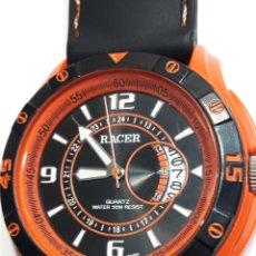 Relojes - Racer: RELOJ VINTAGE RACER QUARZO CORREA CAUCHO. Lote 105616668
