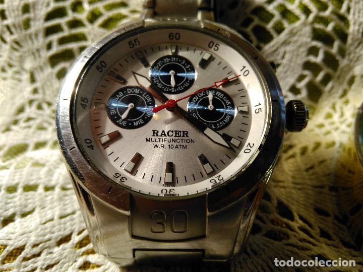 Relojes - Racer: RELOJ RACER - MULTIFUNCION. FUNCIONANDO. BATERIA NUEVA. QUARZO EXACTO. DESCRIP. Y FOTOS VARIAS. - Foto 2 - 120389779