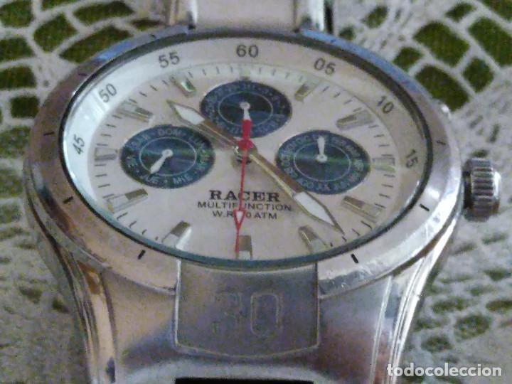 Relojes - Racer: RELOJ RACER - MULTIFUNCION. FUNCIONANDO. BATERIA NUEVA. QUARZO EXACTO. DESCRIP. Y FOTOS VARIAS. - Foto 7 - 120389779