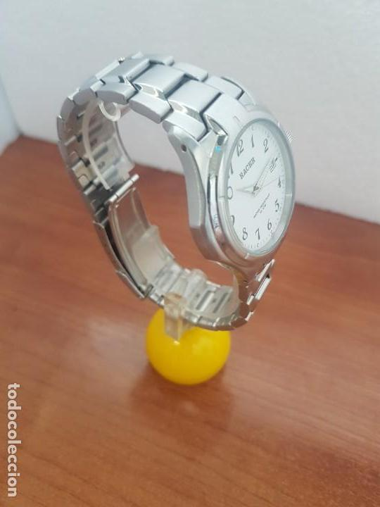 Relojes - Racer: Reloj caballero RACER de cuarzo en acero corona de rosca,esfera blanca, pulsera acero original Racer - Foto 5 - 133090794