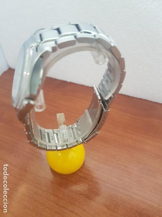 Relojes - Racer: Reloj caballero RACER de cuarzo en acero corona de rosca,esfera blanca, pulsera acero original Racer - Foto 6 - 133090794