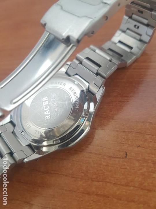 Relojes - Racer: Reloj caballero RACER de cuarzo en acero corona de rosca,esfera blanca, pulsera acero original Racer - Foto 10 - 133090794