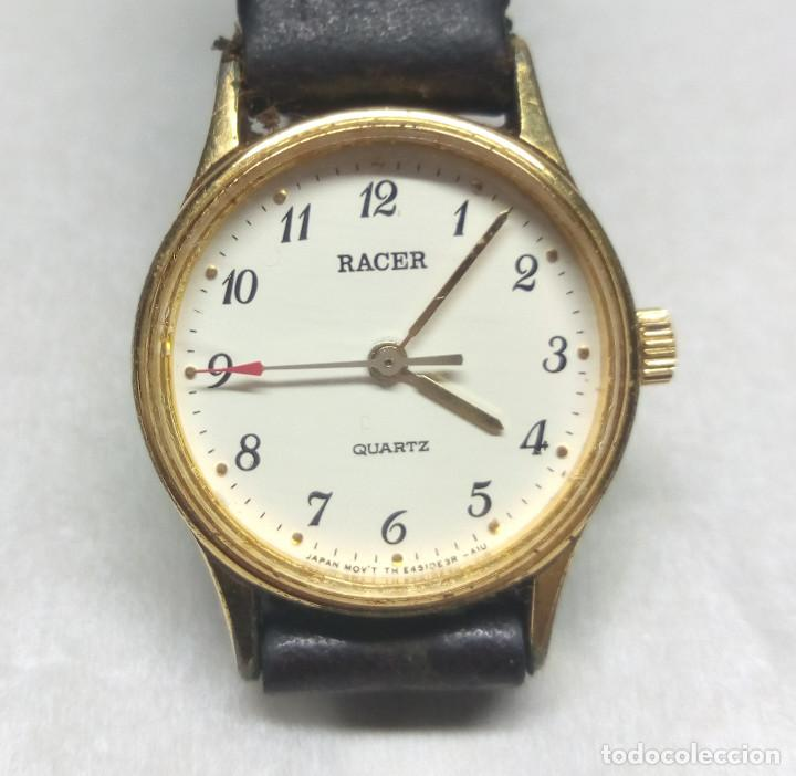 RELOJ CLÁSICO RACER DE CUARZO, CON MAQUINARIA ORIENT - CAJA 2 CM - FUNCIONA CORRECTAMENTE (Relojes - Relojes Actuales - Racer)
