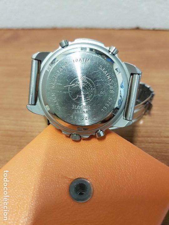 Relojes - Racer: Reloj caballero Vintage RACER analogico y digital corona de rosca, esfera amarilla con correa acero - Foto 14 - 141492278