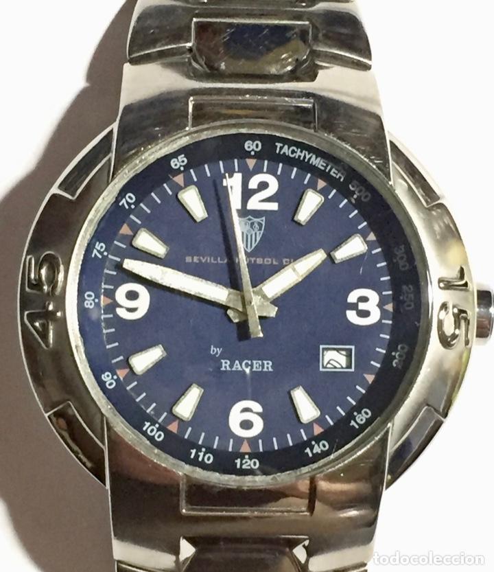 RACER W50040 40 ( EXCLUSIVO SEVILLA F.C) TODO ACERO 43 M/M.C/C. PULSERA MAX 190 M/M. (Relojes - Relojes Actuales - Racer)