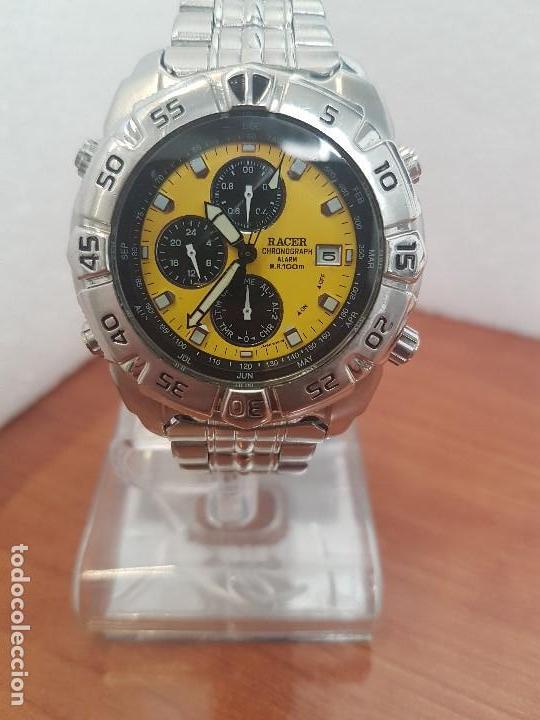 3806af340 Relojes - Racer: Reloj caballero Racer cronógrafo alarma, W.R.100 metros,  calendario a