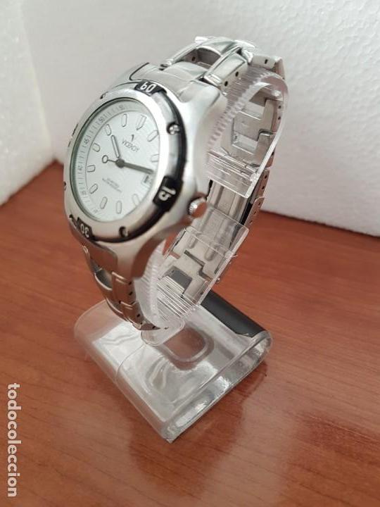 Relojes - Racer: Reloj caballero Viceroy de cuarzo en acero,calendario, esfera blanca, pulsera acero original Viceroy - Foto 2 - 163468666