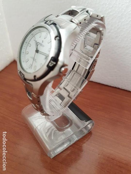 Relojes - Racer: Reloj caballero Viceroy de cuarzo en acero,calendario, esfera blanca, pulsera acero original Viceroy - Foto 6 - 163468666