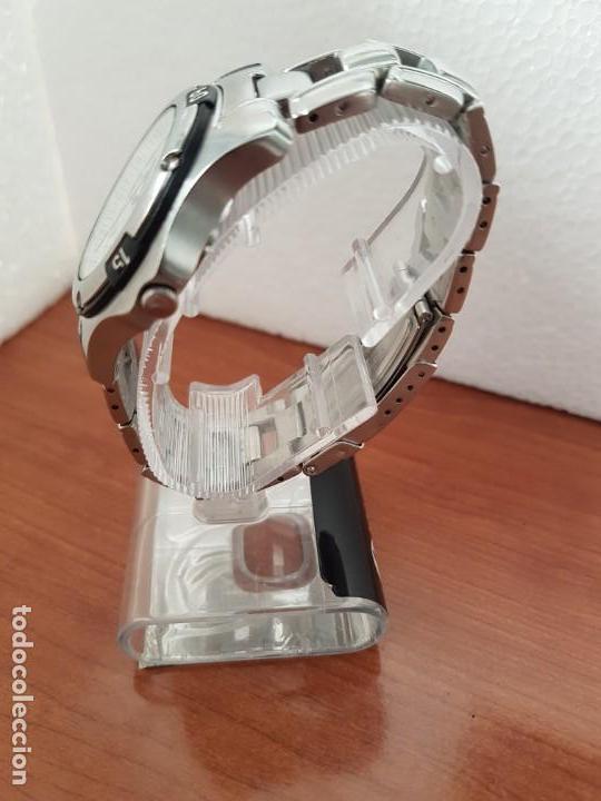 Relojes - Racer: Reloj caballero Viceroy de cuarzo en acero,calendario, esfera blanca, pulsera acero original Viceroy - Foto 8 - 163468666