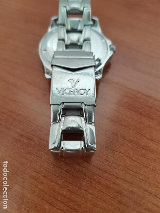 Relojes - Racer: Reloj caballero Viceroy de cuarzo en acero,calendario, esfera blanca, pulsera acero original Viceroy - Foto 10 - 163468666