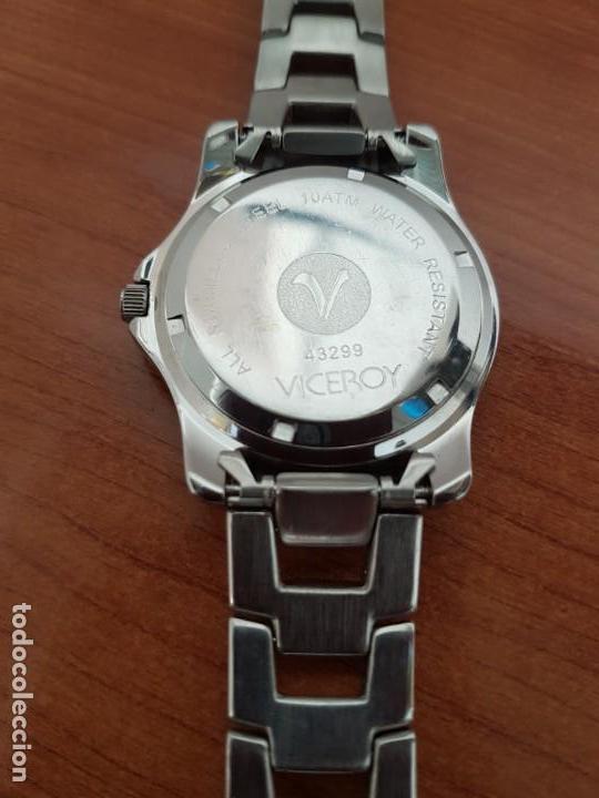Relojes - Racer: Reloj caballero Viceroy de cuarzo en acero,calendario, esfera blanca, pulsera acero original Viceroy - Foto 11 - 163468666