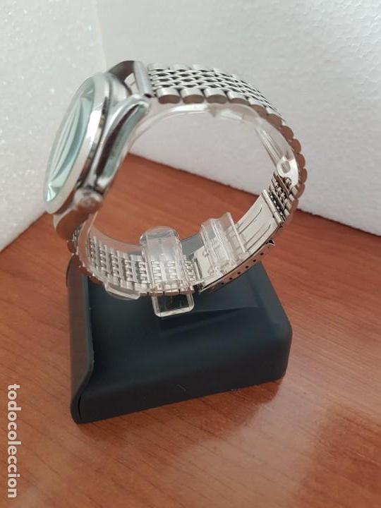 Relojes - Racer: Reloj caballero RACER de cuarzo en acero corona de rosca,esfera gris con calendario, pulsera acero - Foto 6 - 163495178