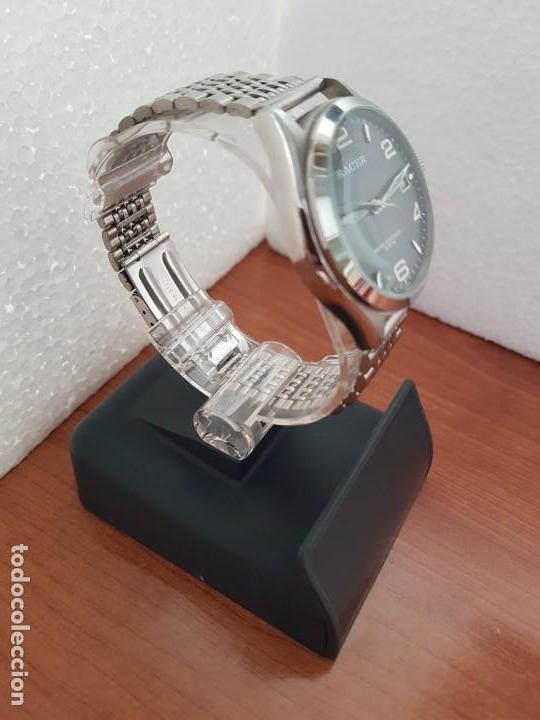 Relojes - Racer: Reloj caballero RACER de cuarzo en acero corona de rosca,esfera gris con calendario, pulsera acero - Foto 7 - 163495178