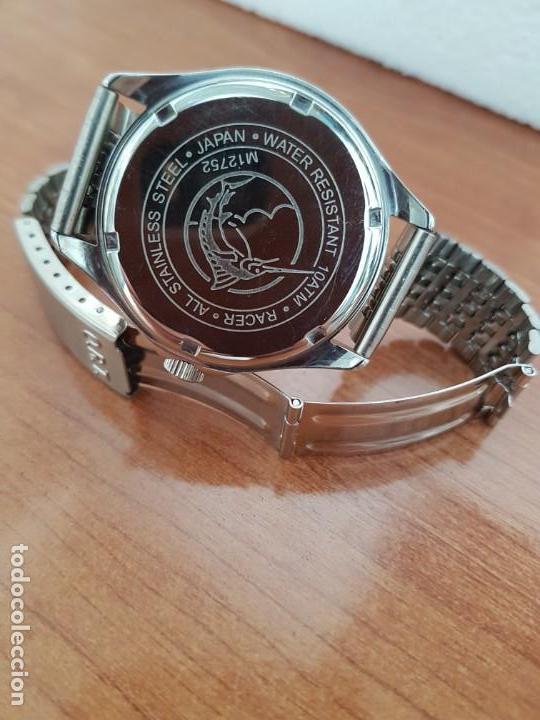 Relojes - Racer: Reloj caballero RACER de cuarzo en acero corona de rosca,esfera gris con calendario, pulsera acero - Foto 8 - 163495178